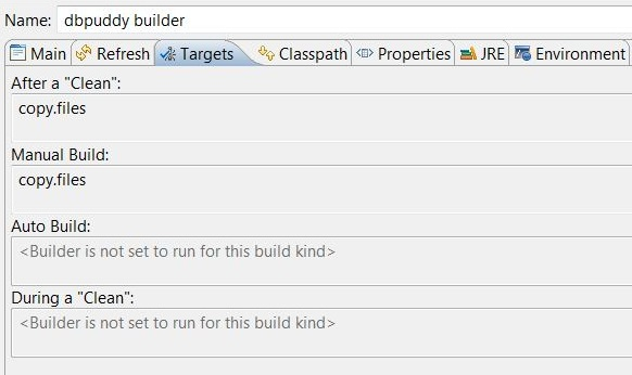 Defining project builder targets